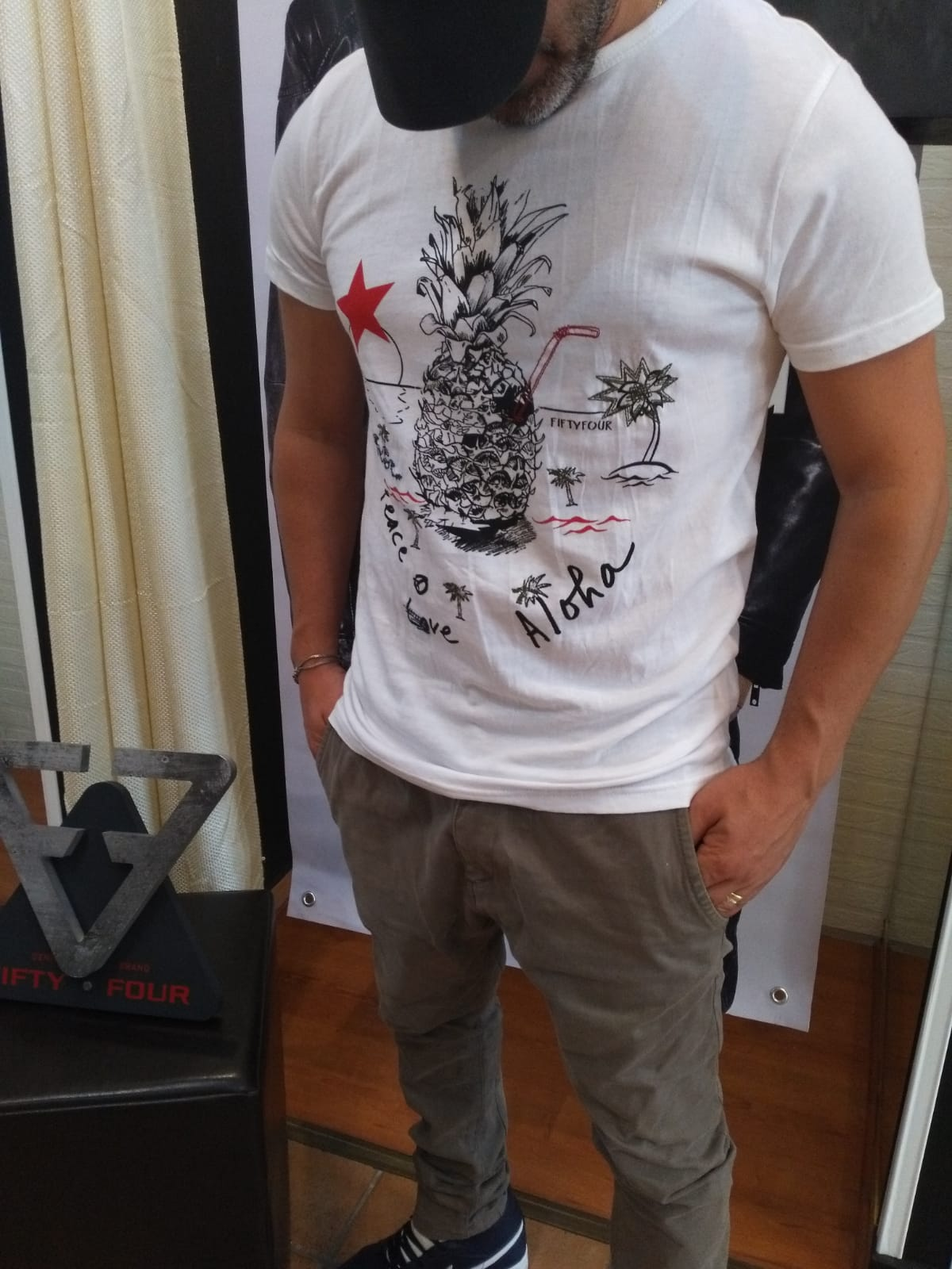 T-SHIRT FIFTY FOUR DEFER - BIANCO