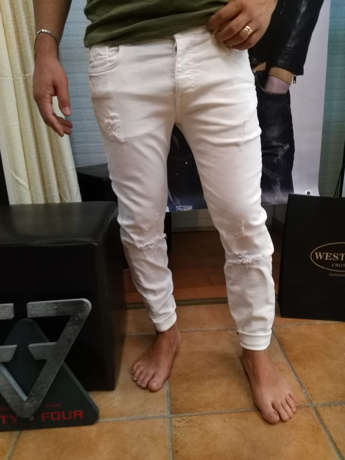JEANS FIFITY FOUR GLINT - BIANCO