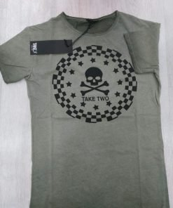 T-SHIRT TAKE-TWO UKE 340 TESCHIO - VERDE