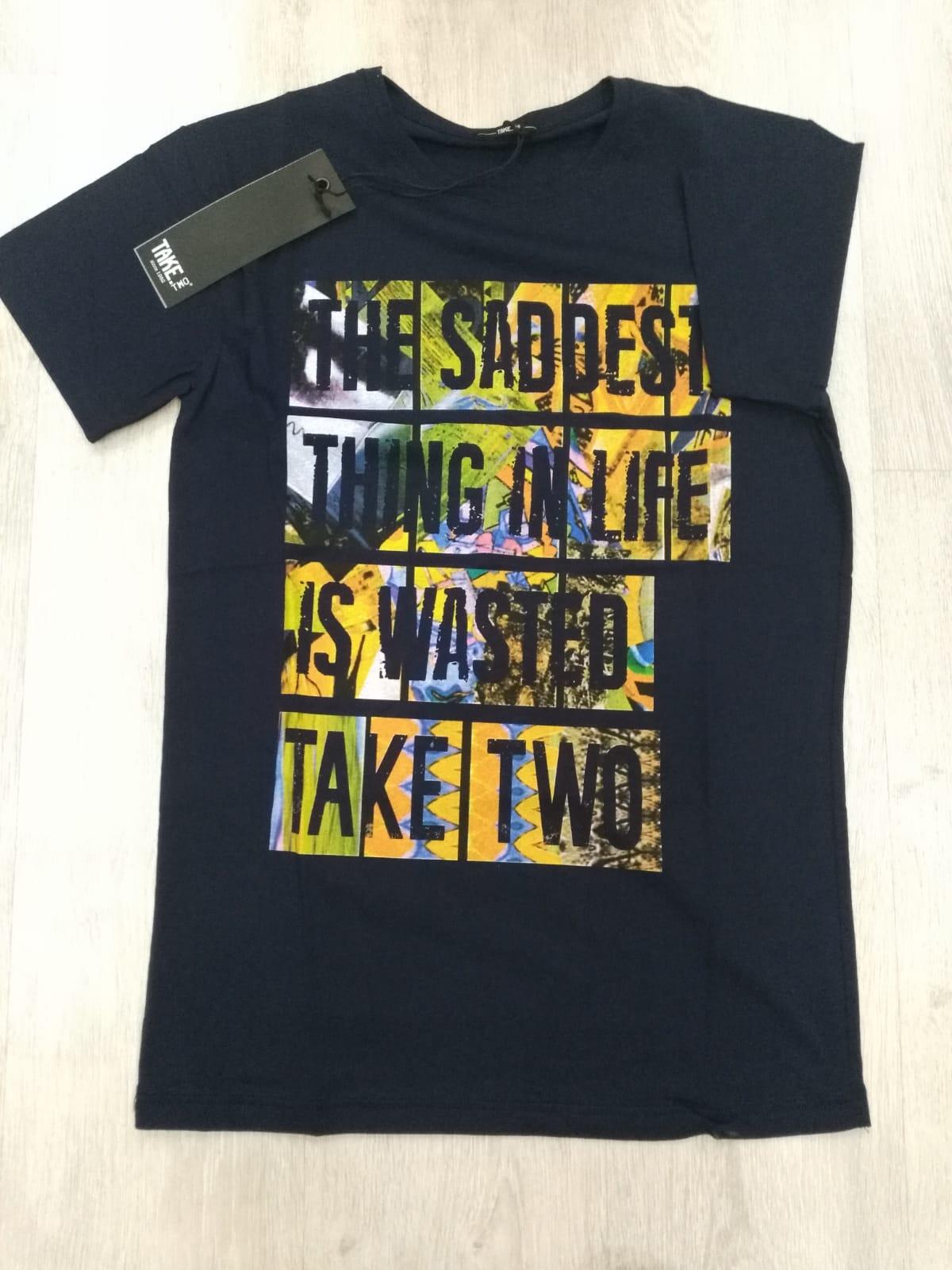 T-SHIRT TAKE-TWO UKE 334 - BLU