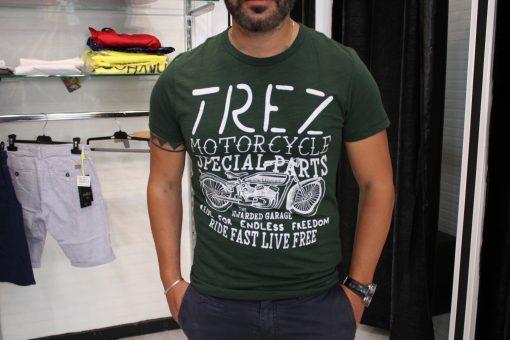 T-SHIRT TREZ TRAFFIC - VERDE